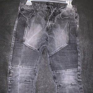 Stacked Skinny Black Jeans